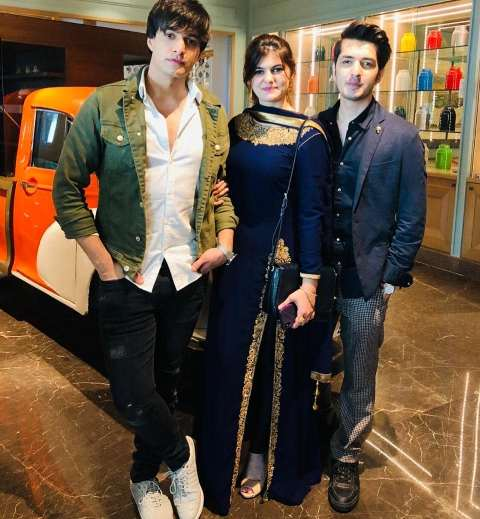 Mohsin Khan with his brother and sister