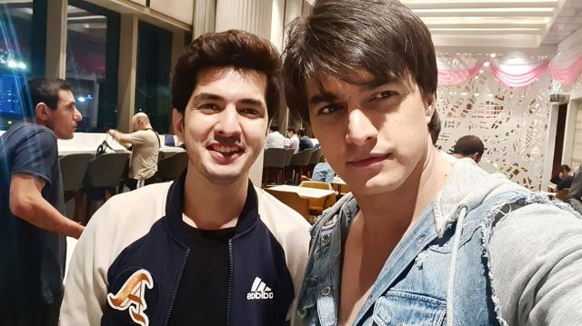 Mohsin Khan with his brother
