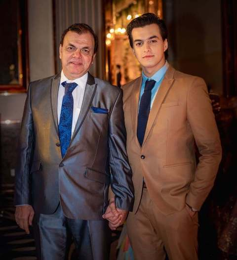 Mohsin Khan with his father