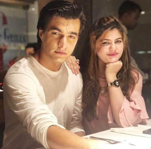 Mohsin Khan with his sister