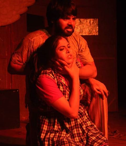 Monika Bhadoriya performing in a play