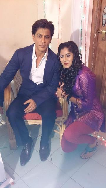 Monika Bhadoriya with Shah Rukh Khan