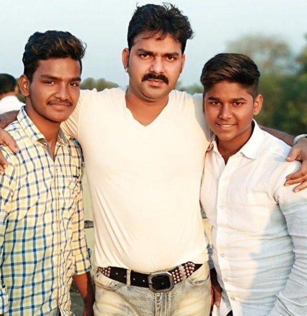 Pawan Singh with his Cousin