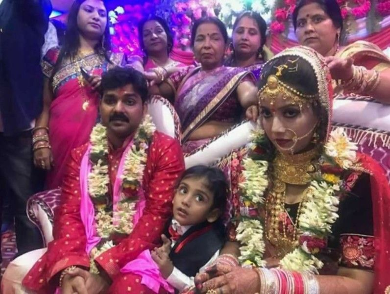 Pawan Singh with his Second Wife