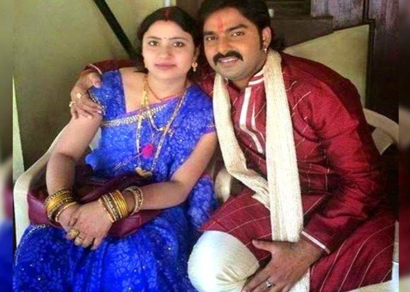 Pawan Singh with his First Wife