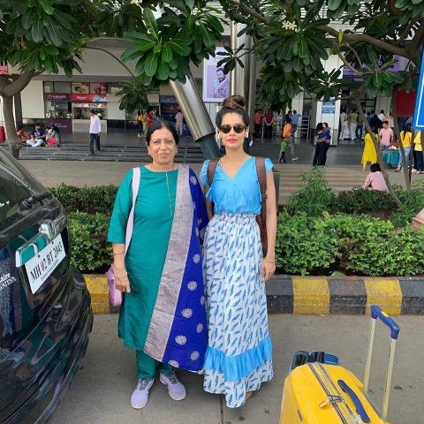 Payal Rohatgi with her mother