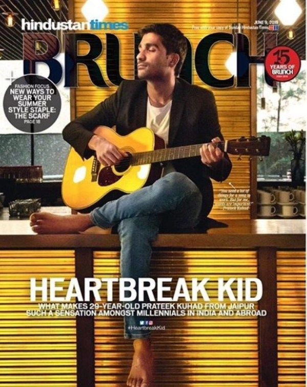Prateek Kuhad on the cover of Hindustan Times Brunch