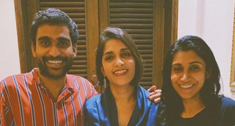 Prateek Kuhad with his sisters