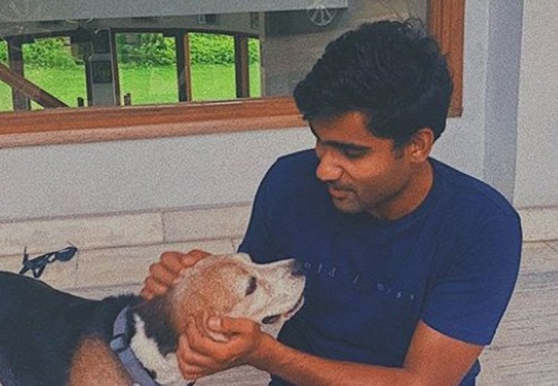 Prateek with his Dog- Po