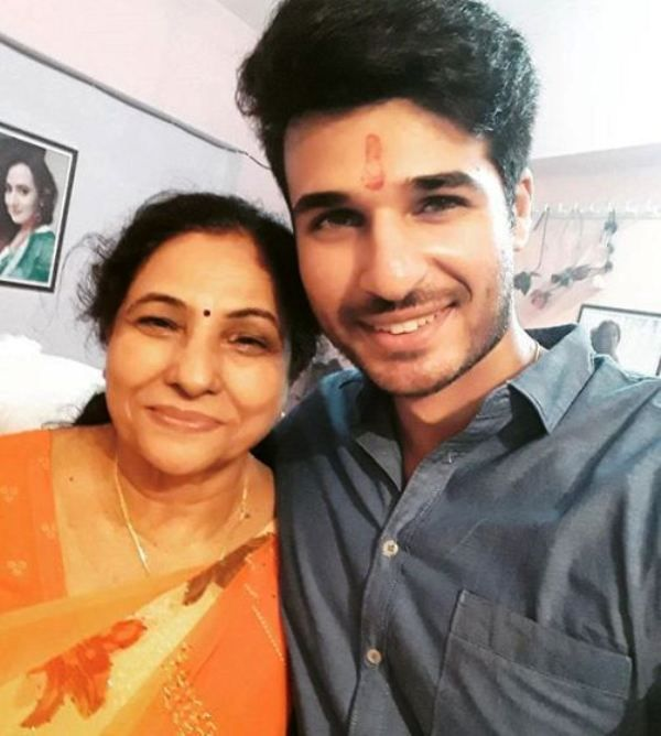 Puneett Chouksey with His Mother