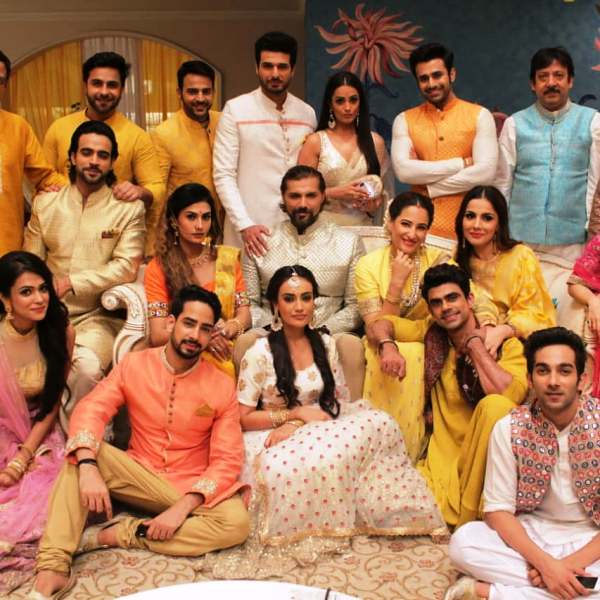 Puneett Chouksey with Naagin 3 Team