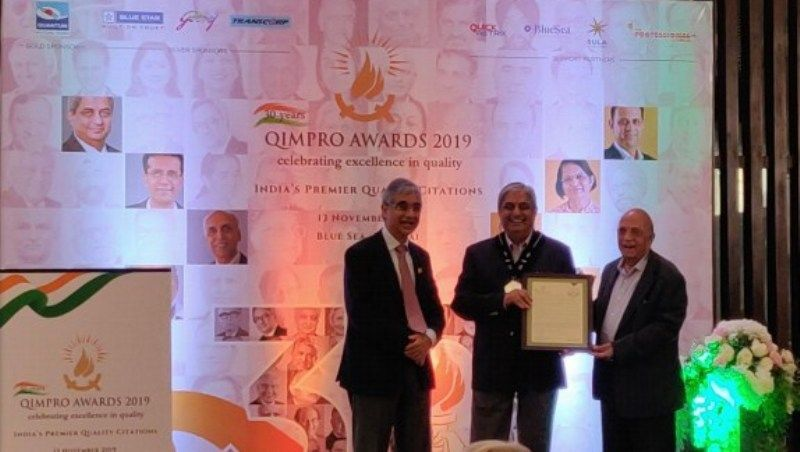 Aditya Receiving QIMPRO Platinum Standard Awards 2019 - National Statesman for Quality in Business