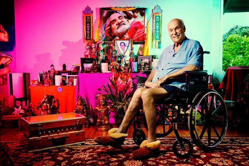 Ram Dass in his house