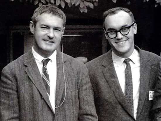 Ram Dass (right) with Timothy Leary
