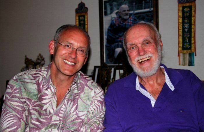 Ram Dass with his son Peter Reichard