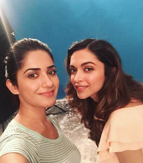 Ruhani Sharma with Deepika Padukone