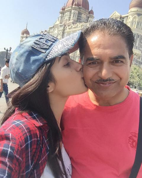 Ruhani Sharma with her father