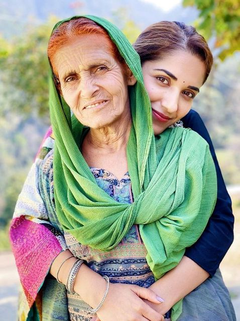Ruhani Sharma with her grandmother