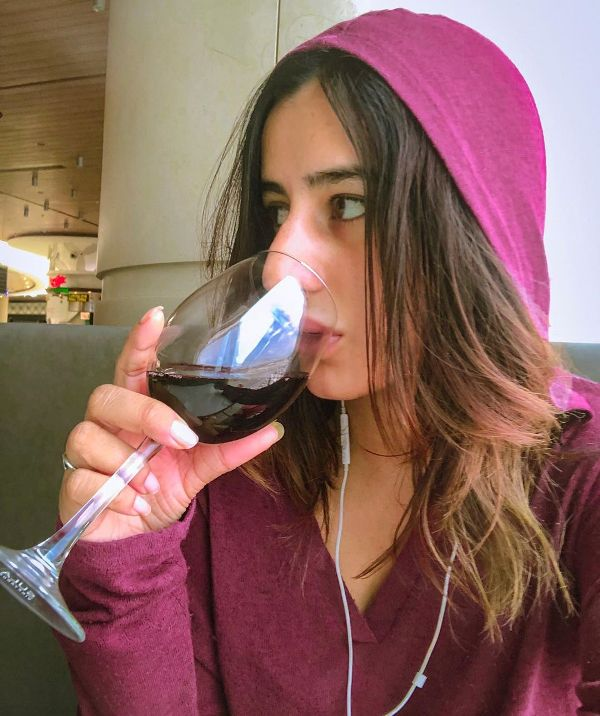 Saloni Chopra Consuming Alcohol
