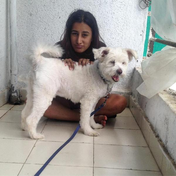 Saloni Chopra with her Dog
