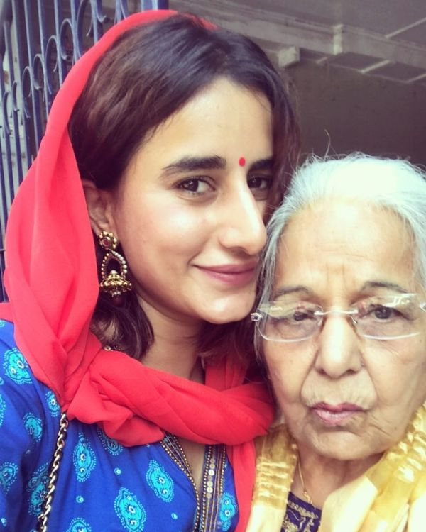 Saloni with her Grandmother