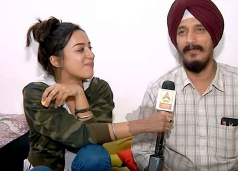 Sargun Kaur Luthra with Her Father