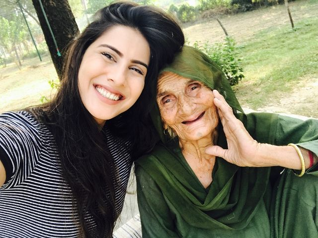 Sheetal Thakur with her grandmother
