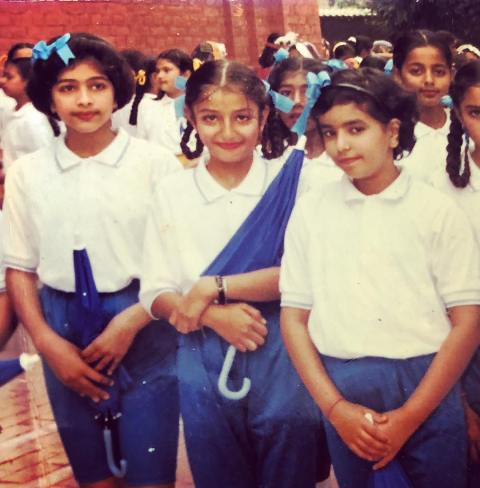 Sonia Mann in her school days
