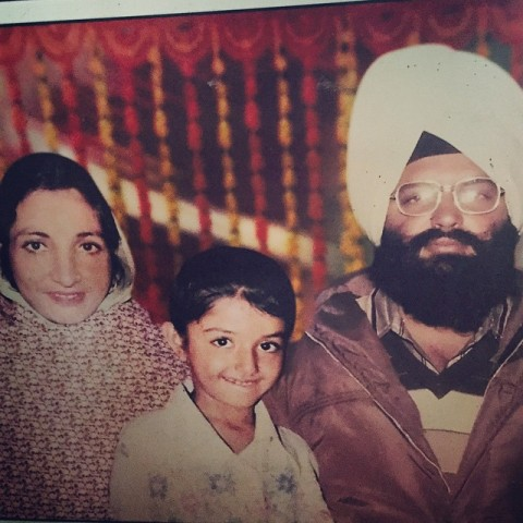 Sonia Mann with her parents