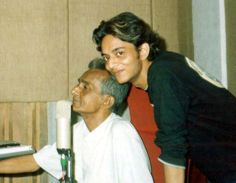 Tanishk Bagchi with his Father