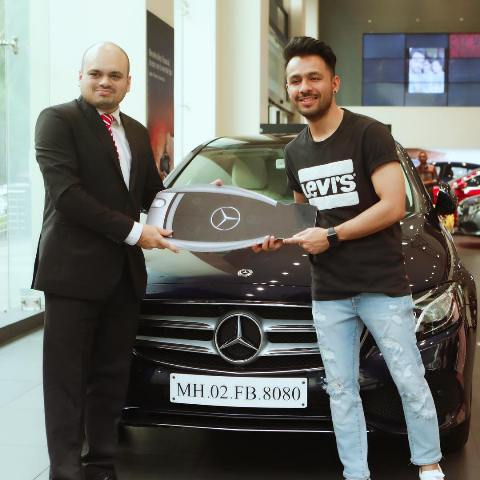 Tony Kakkar with his car