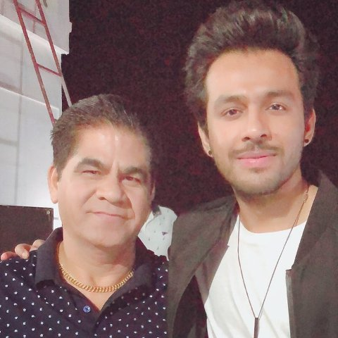 Tony Kakkar with his father