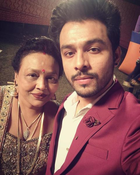 Tony Kakkar with his mother