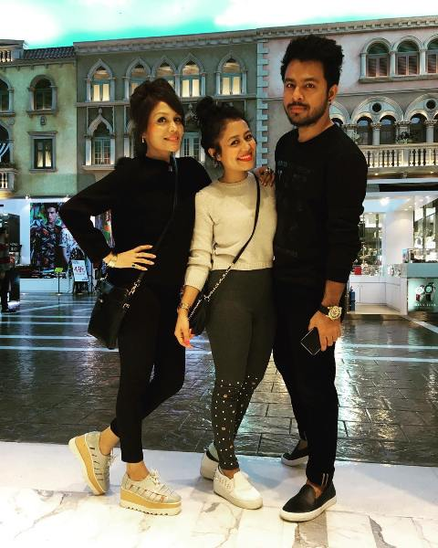 Tony Kakkar with his sisters