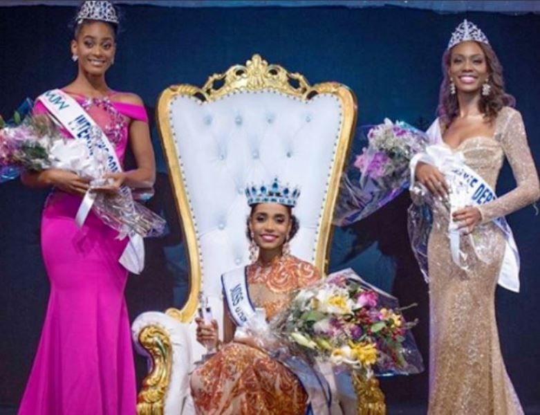 Top 3 Contestants of Miss Jamaica 2019- Toni-Ann Singh, Roshelle McKinley, and Alanna Wanliss