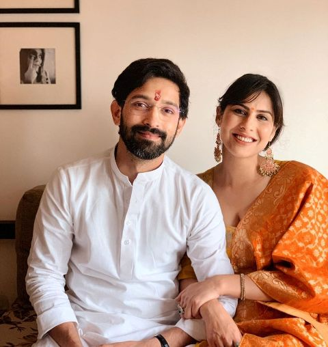 Sheetal Thakur with her fiance, Vikrant Massey
