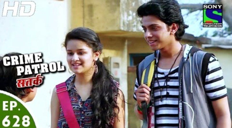Vishal Jethwa with Avneet Kaur in Crime Patrol