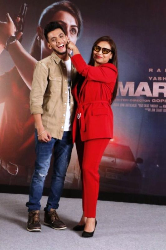Vishal Jethwa with Rani Mukerji for the Promotion of Mardaani 2