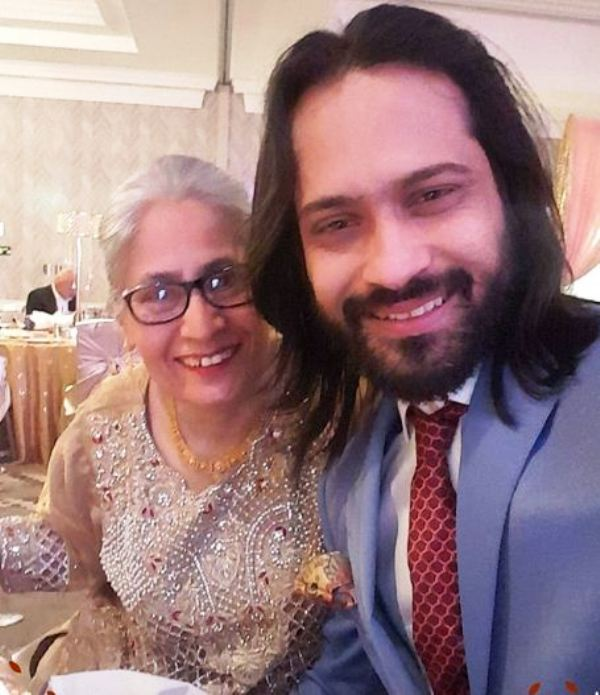 Waqar Zaka with His Mother