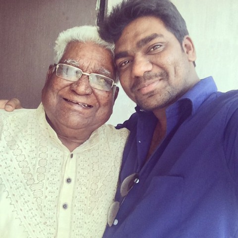 Zakir Khan with his grandfather
