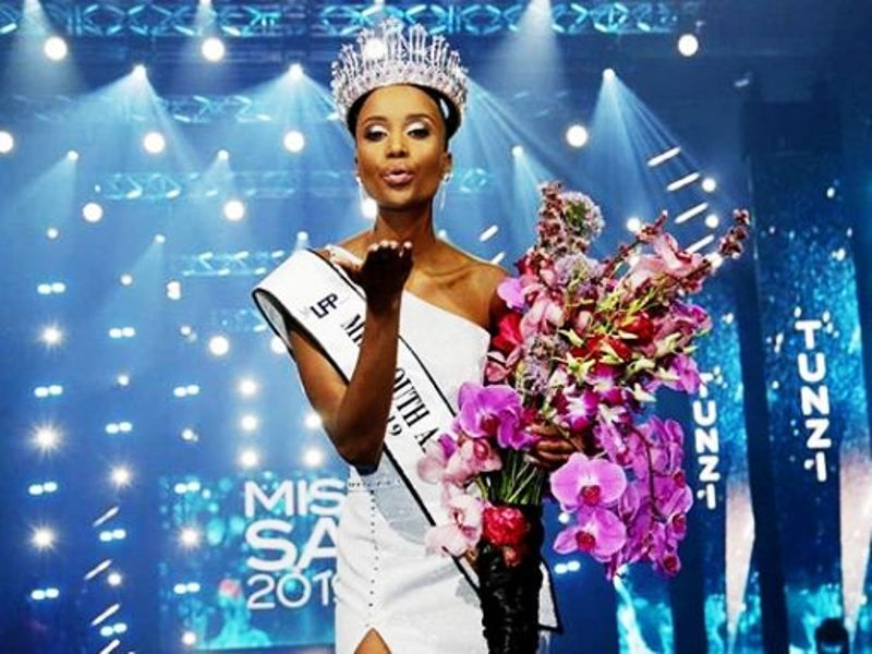 Zozibini Tunzi After Being Crowned as Miss South Africa