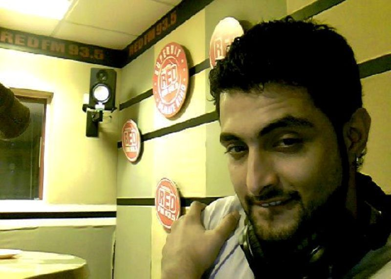 Aadil Khan in Red FM Radio Station's Office