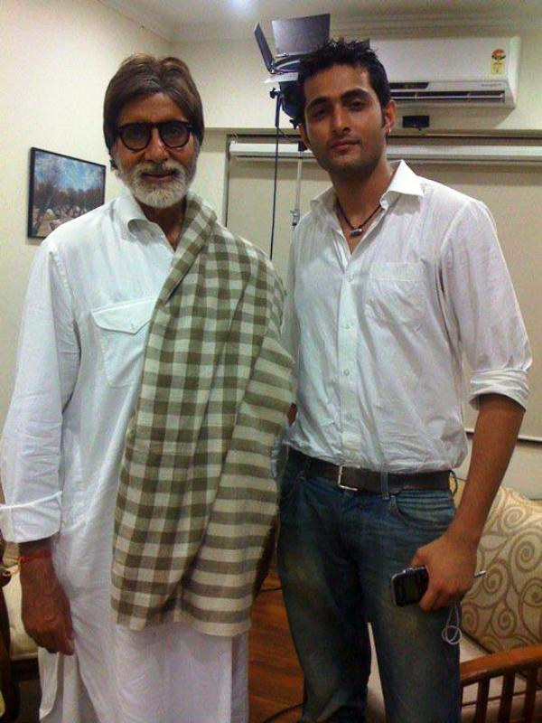 Aadil Khan with Amitabh Bachchan