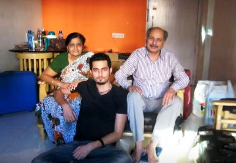 Aadil Khan with His Parents