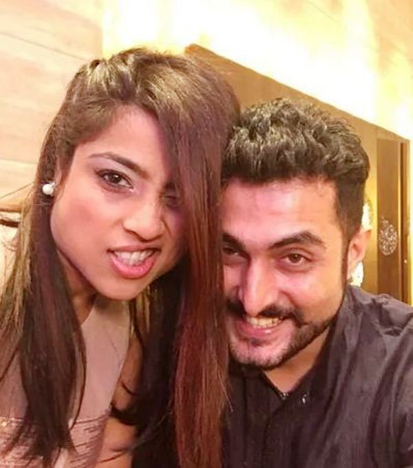 Aadil Khan with RJ Malishka