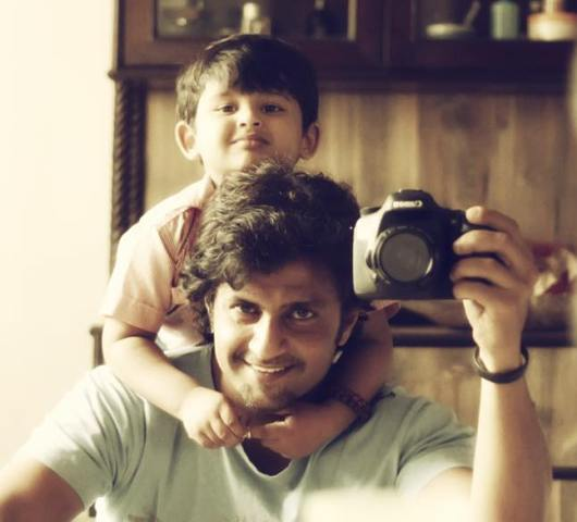 Aamir Dalvi with his son