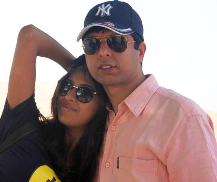 Aishwarya Sakhuja with Her Brother