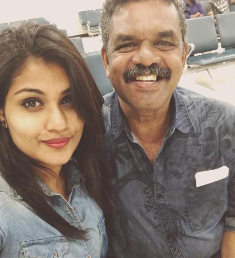 Alina Padikkal with her father