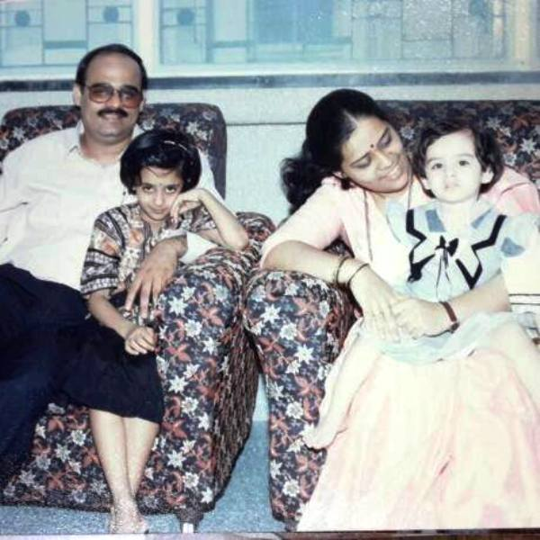 An Old Picture of Spruha Joshi with Her Family
