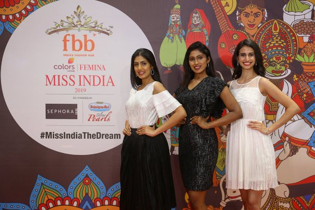 Anjali Schmuck as a finalist of fbb Colors Femina Miss India 2019 Tamil Nadu auditions